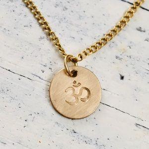 gold om necklace 🕉